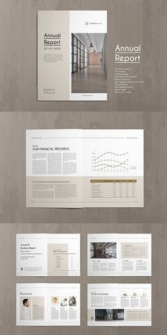 20 Page corporate style Annual Report Template. This annual report template is the best suitable choice to work with that provided an effective layout to Page Layout Design, Graphisches Design, Cover Design, Design Ideas, Chart Design, Design Inspiration, Annual Report Layout, Annual Report Covers, Annual Reports