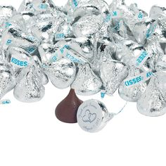 Personalized Wedding Two Hearts Hershey's® Kisses® - OrientalTrading.com