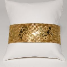 Vintage Gold Dipped Wide Mesh Bracelet with by StagingGraces, $34.00