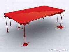 table in red
