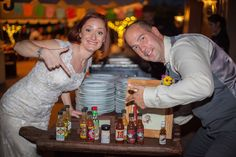 Hot sauce bar at the wedding!