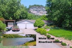 """Fabulous Riverfront home across from White Bluff. Remodeled with newer tile flooring, large oak kitchen and stainless appliances. Beautiful plants and garden area, like a park. """"Safe room"""" in garage for 6 people. Heat & AC, dual heat pump switches to gas heat at 30 degrees. Heritage II roof in Norfork AR"""