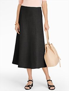 Talbots - Refined Linen Flared Full Skirt   Skirts   Misses