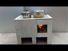 Technology for building smoke free cement stoves is on another level - YouTube Concrete Cement, Concrete Projects, Rocket Stove Design, 2 Bedroom House Plans, Cement Crafts, Rocket Stoves, Diy Fire Pit, Home Organization Hacks, Stone Flooring