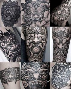 Here are some Korean Goblins [dokkaebi] I've done in Can't wait to do more in Here's to the new year! Rose Tattoos, Leg Tattoos, Body Art Tattoos, Tattoos For Guys, Tattos, Flesh Tattoo, Ab Tattoo, Ship Tattoo Sleeves, Leg Sleeve Tattoo
