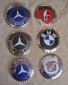 Coche insignias emblemas Auto para parrillas: elección de 1 Mercedes Cadillac Lamborghni BMW nuevo viejo Stock Vintage de los años 80 algunos todavía en paquetes