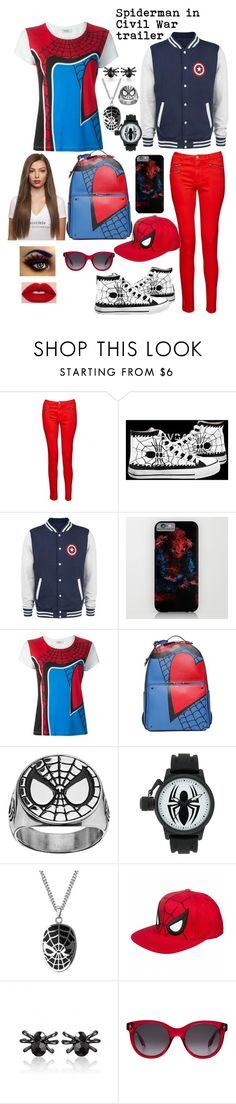 """""""Day 15 Spiderman Trailer"""" by ladyjane-irving on Polyvore featuring French Connection, HVBAO, Sephora Collection, Valentino and Alexander McQueen"""