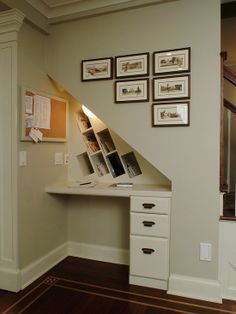 Desk Under Stairs desk under stairs home design ideas, pictures, remodel and decor