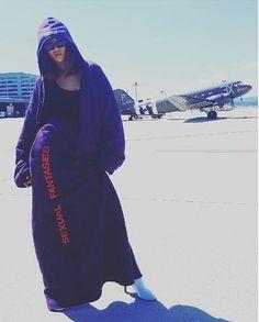 5abc6646b8f8a1 Splurge  Rihanna s Instagram Vetements Purple Sexual Fantasies Skirt (The  Fashion Bomb Blog)