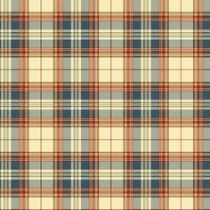 Plaid Wallpaper is cheerful in red and blue | AmericanBlinds.com #madforplaid
