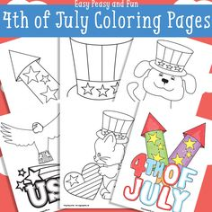 Free 4th Of July Coloring Pages - Easy Peasy and Fun