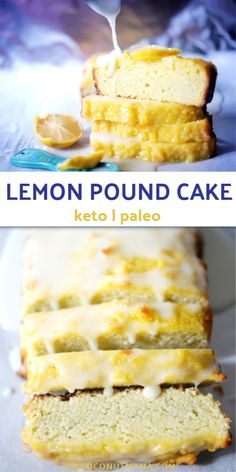 A moist and rich keto lemon pound cake made with coconut flour and covered in a sweet lemon glaze. A moist and rich keto lemon pound cake made with coconut flour and covered in a sweet lemon glaze. Coconut Flour Desserts, Recipes Using Coconut Flour, Baking With Coconut Flour, Coconut Recipes, Keto Bread Coconut Flour, Almond Flour Cakes, Healthy Recipes, Coconut Oil, Lemon Dessert Recipes