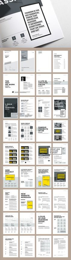 Proposal and Portfolio TemplateMinimal and Professional Proposal Brochure…