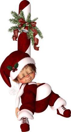 "Photo from album ""Рождественские Эльфы"" on Yandex. Christmas Elf Doll, Christmas Love, Christmas Pictures, Christmas Graphics, Christmas Clipart, Precious Moments Dolls, Illustration Noel, Baby Fairy, Little Designs"
