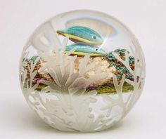 Cathy Richardson Carved Rainbow Fish Paperweight image 2
