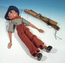Early Vintage Pelham Puppet - Painted Hair Example.