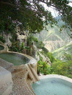 Hot water pools at grutas de tolantongo in hidalgo, #Mexico