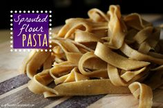 Homemade Sprouted Flour Pasta with Garlic Butter Herb Sauce - Girl Meets Nourishment (Cheese Tortellini Homemade) Trim Healthy Recipes, Organic Recipes, Whole Food Recipes, Snack Recipes, Cooking Recipes, Cooking Ideas, Spelt Recipes, Flour Recipes, Bread Recipes