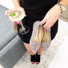 Loved checking out the new @solesociety Santa Monica Place store tonight! Can you handle these glitter flats?!