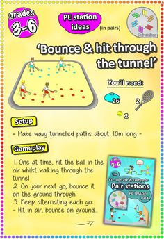 Tennis skill ideas - In your next PE lesson, try these 6 PE station sport skill ideas, perfect for grades 3-6