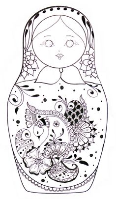 Matryoshka/coloriage- would love to do 1 of these. used to love these stacker dolls