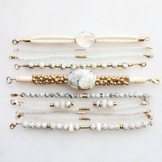 "50 Likes, 4 Comments - Kathryn Blackmore (@thevamoose) on Instagram: ""Bracelet samples with marble, quartz and amazonite"""