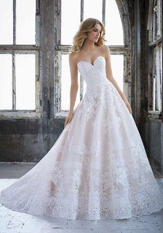 Morilee 8211 Kimberley Princess Lace Ball Gown Wedding Dress