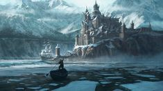 Keep your audience in awe with another imaginary castle that looks more like a huge fort in a fantasy kingdom. If you want to create a dynamic painting of a…Read more of Fantasy Castle Painting Fantasy City, Fantasy Castle, Fantasy Places, Medieval Fantasy, Fantasy World, Landscape Concept, Fantasy Landscape, Fantasy Concept Art, Fantasy Artwork