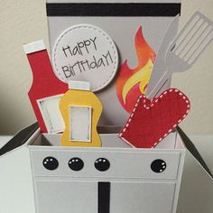 Grilling Barbeque Birthday Card in a box by MessagesAndMemories