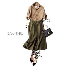 華奢見え&美バランスな前だけINシャツで、今どき感を手に入れてMarisol ONLINE|女っぷり上々!40代をもっとキレイに。