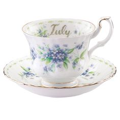 Royal Albert Flower of the Month July Teacup & Saucer.  I have this.