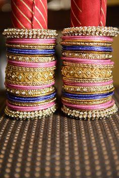 4a indian wedding colorful churrahs