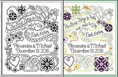 Embroidery Stitches Ideas Best Thing Wedding - cross stitch pattern designed by Ursula Michael. Local Embroidery, Types Of Embroidery, Learn Embroidery, Cross Stitch Embroidery, Embroidery Patterns, Hand Embroidery, Modern Embroidery, Cross Stitching, Wedding Cross Stitch Patterns