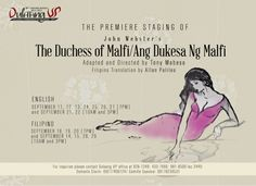 the jagged barn: DULAANG UP STAGES JACOBEAN TRAGEDY THE DUCHESS OF MALFI/ ANG DUKESA NG MALFI Jacobean, Filipina, Memes, Theater, Blogging, Books, Barn, Activities, Libros
