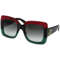 9e23351010 Gucci 001 Red-Black With Grey Gradient Lenses Sunglasses
