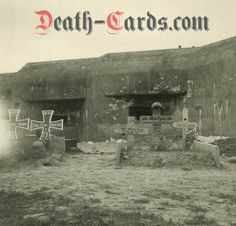 orig. WWII Photo - Shelter Francaltroff with german Graves - Maginot Line 1940