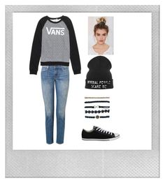 Just hanging out by stray-arrow on Polyvore featuring polyvore, fashion, style, Vans, J Brand, Converse, Wet Seal, CO, Noir Jewelry, Polaroid and clothing