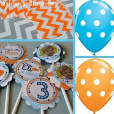 Goldfish Birthday Party Decorations Package by PartyOnPurposeShop