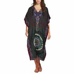 Multicolor Long Viscose Kaftan for Women