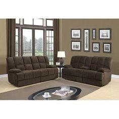 Global Furniture U201 Console Reclining Loveseat in Dona Chocolate (Brown)