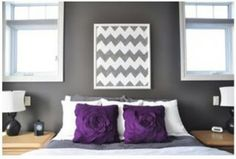 Purple bedroom accent