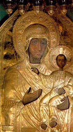 Hodegetria Smolenskaya or Our Lady of Smolensk. With riza.// MD din Smolensk. Cu ferecătură.