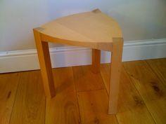 Solid beech stool