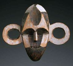 BOA . Uele. Upper - Congo.  All our information indicates that the BOA were quite infrequent practitioners of mask sculpting. The approximately twenty known examples have for the most part a typical design - with as most outstanding feature, the often enlarged ears provided with round openings - by which they are readily identified. The portrayed bavongobo-helical perforation used to exist mainly among the Eastern BOA groups.  The oldest masks were collected prior to 1886, some others at…