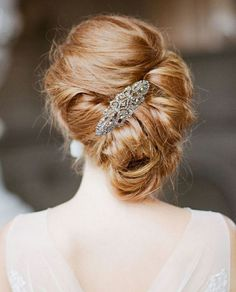draped hair comb with half updo - Google Search