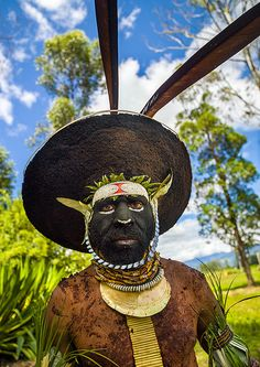 Enga Kompian Suli Muli Wigman In Mount Hagen During A Singsing, western highlands, Papua New Guinea