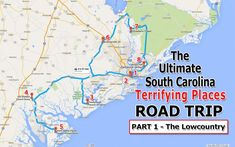 Here's The Ultimate Terrifying South Carolina Lowcountry Road Trip And It'll Haunt Your Dreams Palmetto State, Myrtle Beach Sc, Travel Info, Travel Maps, Travel Guides, Road Trip Usa, Usa Trip, Road Trippin, Low Country