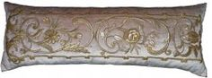 Antique European Raised Gold Metallic Embroidery.