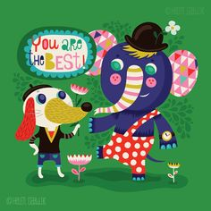 You are the Best ... limited edition giclee print of an original illustration (8 x 8 in, 20 x 20 cm)