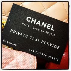 Iloveyoupink.com adores private Chanel taxi service